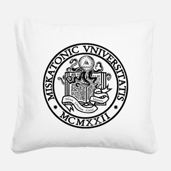 Miskatonic University Square Canvas Pillow