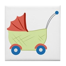 Baby Stroller Tile Coaster