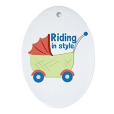 Riding in Style Ornament (Oval)