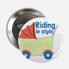 """Riding in Style 2.25"""" Button (100 pack)"""