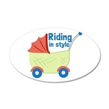Riding in Style Wall Decal