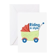 Riding in Style Greeting Cards