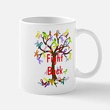 Fight Back Cancer Ribbon Tree Mugs
