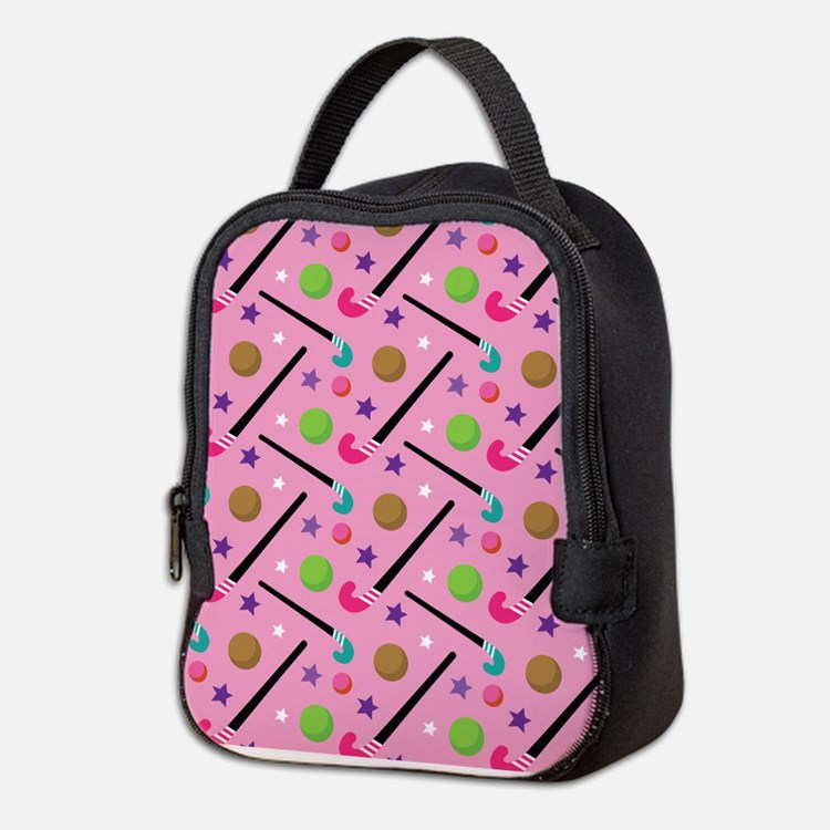 Field Hockey Sports Neoprene Lunch Bag