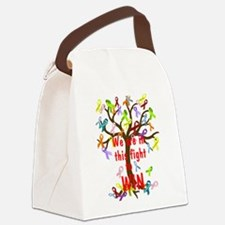 We are in this figh... Canvas Lunch Bag