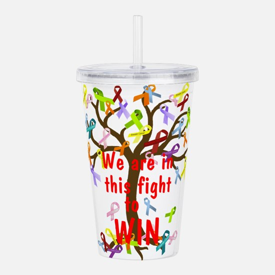 We are in this figh... Acrylic Double-wall Tumbler