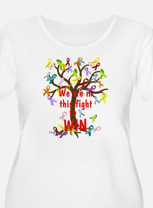 We are in this figh... Plus Size T-Shirt