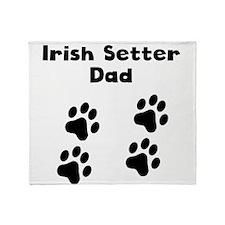 Irish Setter Dad Throw Blanket