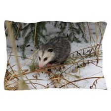 Snow Possum Pillow Case