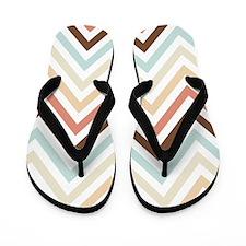 Zigzag Chevron Stripes Pattern Flip Flops