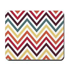 Zigzag Chevron Stripes Pattern Mousepad