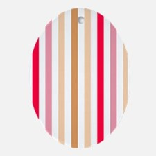 Colorful Pastel Stripes Pattern Ornament (Oval)