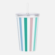 Colorful Pastel Stripe Acrylic Double-wall Tumbler