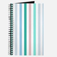 Colorful Pastel Stripes Pattern Journal