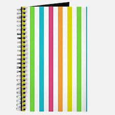 Colorful Pastel Stripes Pattern Journal
