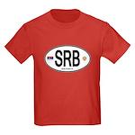Serbia Intl Oval Kids Dark T-Shirt