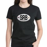 Serbia Intl Oval Women's Dark T-Shirt