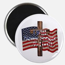 I Will Never Forget 9-11-01 American Flag Magnets