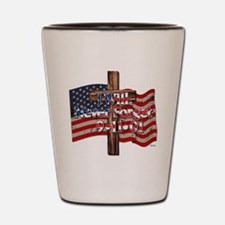 I Will Never Forget 9-11-01 American Flag Cross Sh