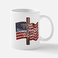 I Will Never Forget 9-11-01 American Flag Cross Mu