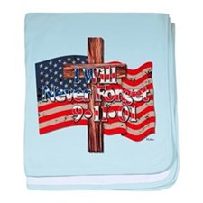 I Will Never Forget 9-11-01 American Flag Cross ba