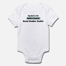 Worlds Greatest Social Studie Infant Bodysuit