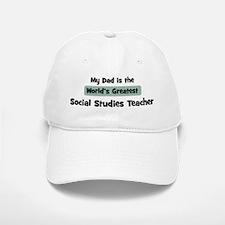 Worlds Greatest Social Studie Baseball Baseball Cap