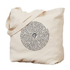 Alone By Poe: Spiral Tote Bag