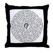 Alone By Poe: Spiral Throw Pillow