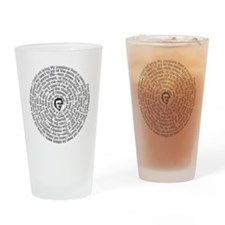 Alone By Poe: Spiral Drinking Glass