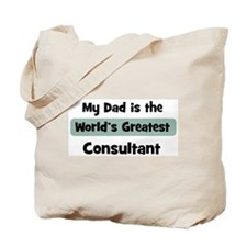 Worlds Greatest Consultant Tote Bag