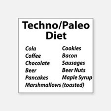 Techno/Paleo Diet Sticker