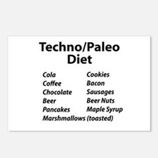 Techno/Paleo Diet Postcards (Package of 8)