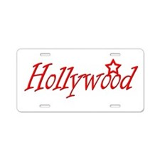 hollywood script.png Aluminum License Plate