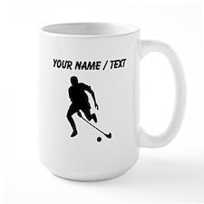 Custom Field Hockey Player Silhouette Mugs