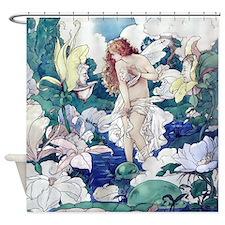 Victorian Fairy Garden Shower Curtain