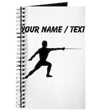 Custom Fencer Silhouette Journal