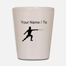 Custom Fencer Silhouette Shot Glass