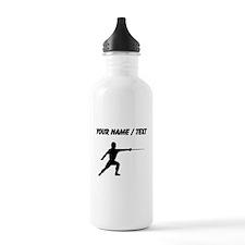 Custom Fencer Silhouette Water Bottle