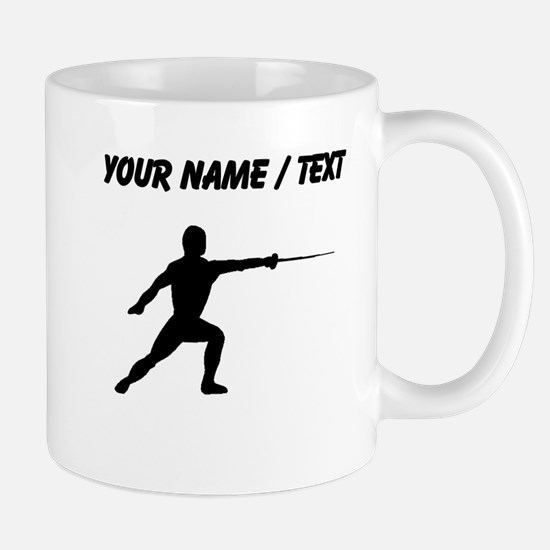Custom Fencer Silhouette Mugs