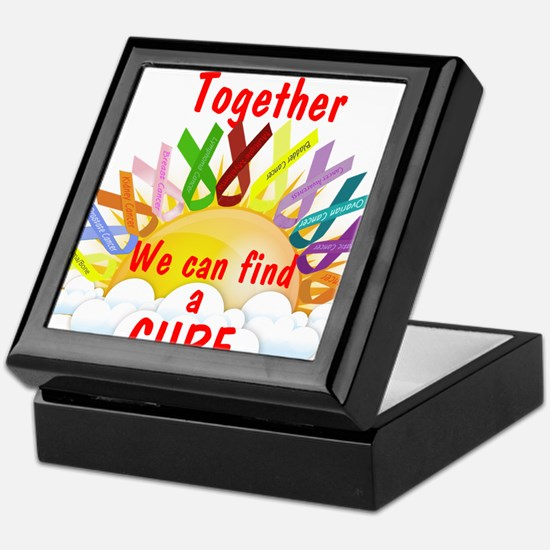 Together we can find a cure Keepsake Box