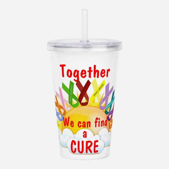 Together we can find a cure Acrylic Double-wall Tu