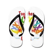 Together we can find a cure Flip Flops