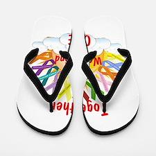 Together we can find a cure Flip Flops