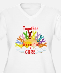 Together we can find a cure Plus Size T-Shirt