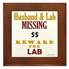 Husband & Lab Missing Framed Tile