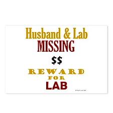 Husband & Lab Missing Postcards (Package of 8)
