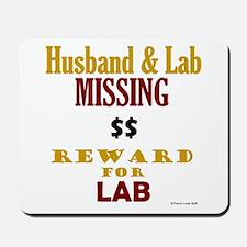 Husband & Lab Missing Mousepad
