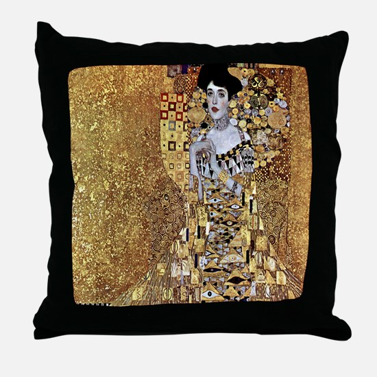 Adele Gustav Klimt Throw Pillow