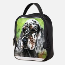 English Setter pup by Dawn Secord Neoprene Lunch B